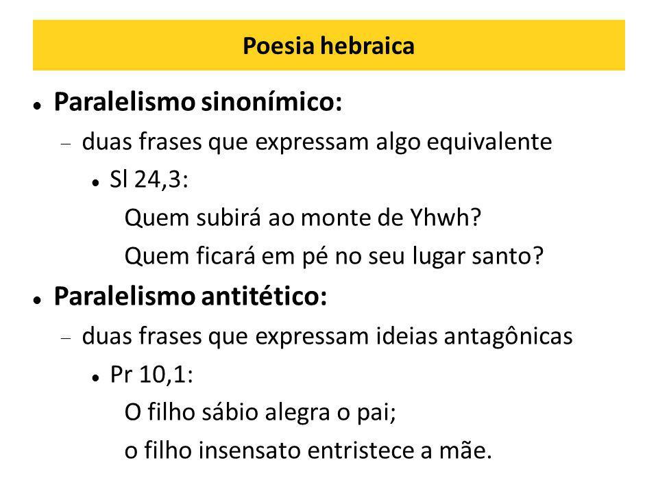 Paralelismo sinonímico:
