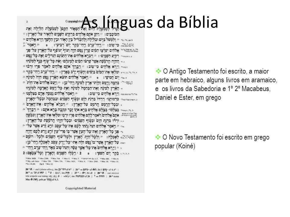 As línguas da Bíblia