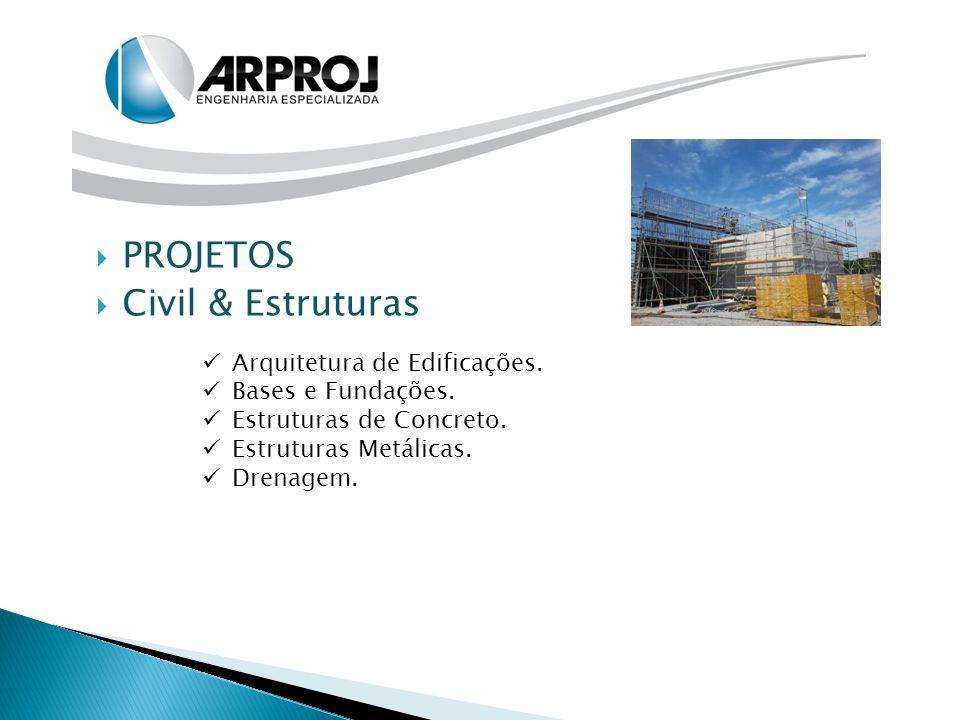 PROJETOS Civil & Estruturas Arquitetura de Edificações.