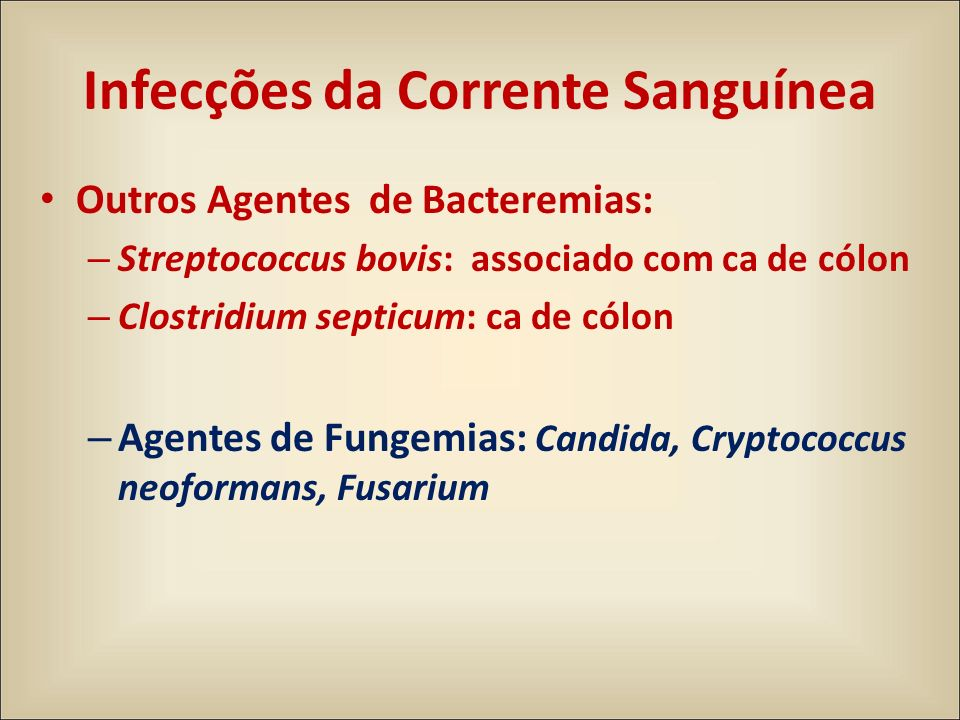 Infecções da Corrente Sanguínea