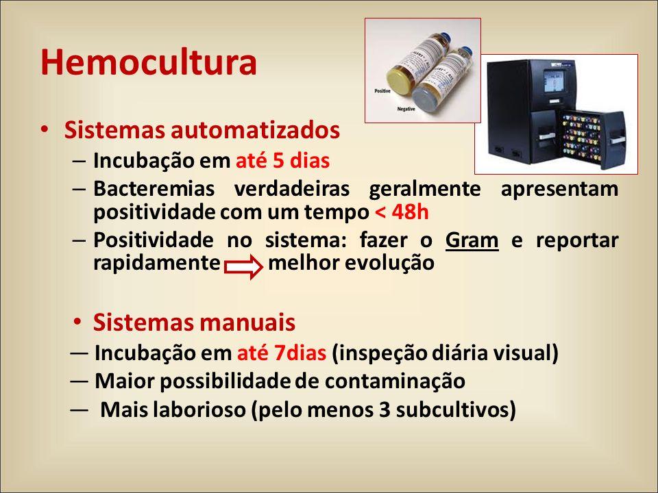 Hemocultura Sistemas automatizados Sistemas manuais