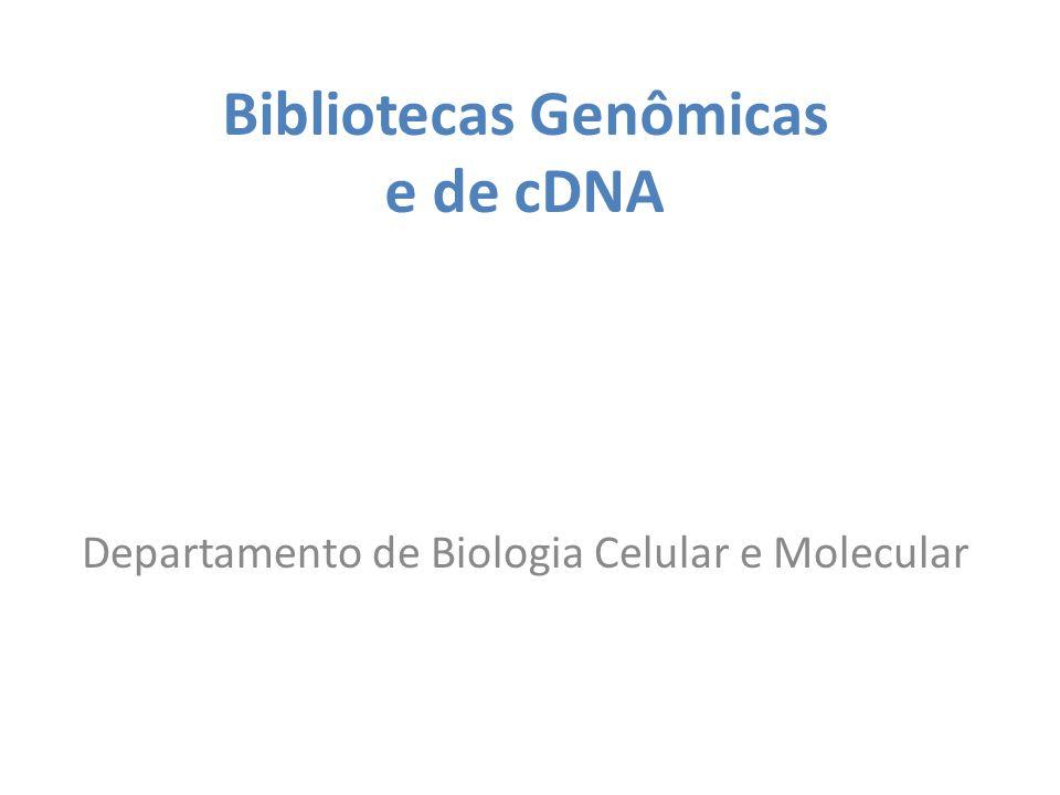 Bibliotecas Genômicas e de cDNA