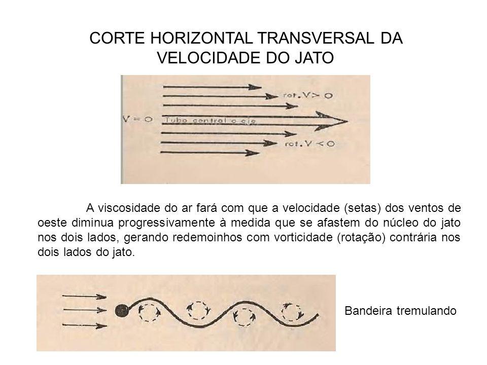 CORTE HORIZONTAL TRANSVERSAL DA VELOCIDADE DO JATO