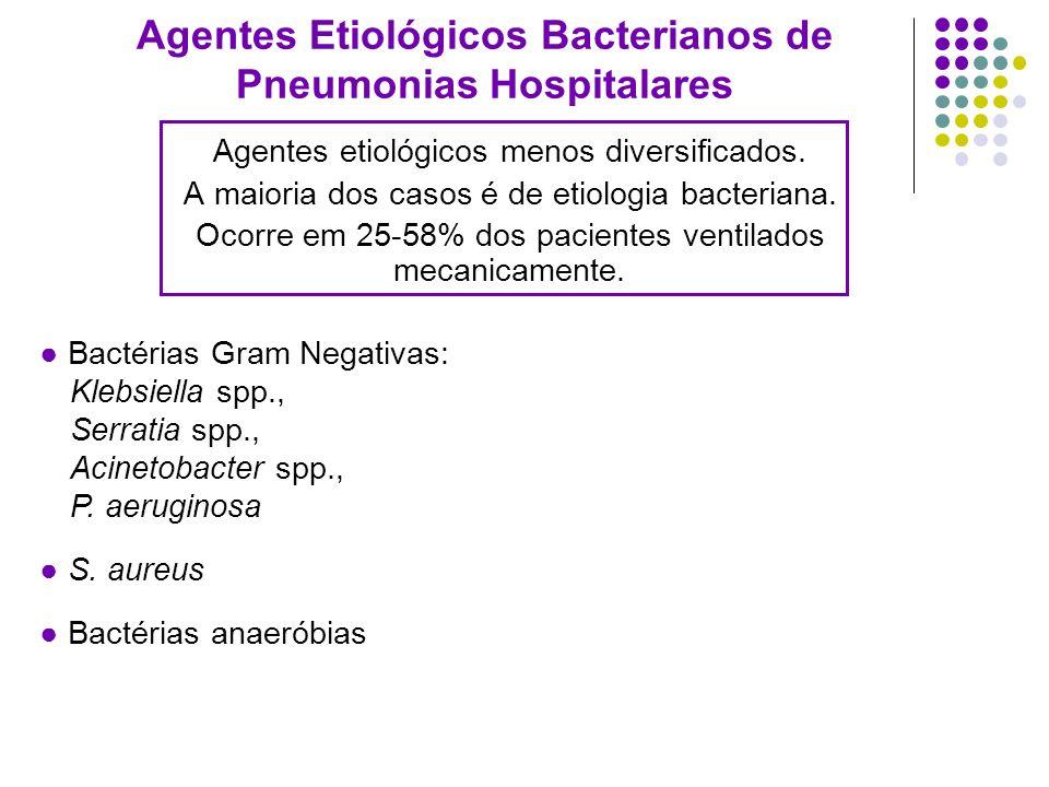 Agentes Etiológicos Bacterianos de Pneumonias Hospitalares