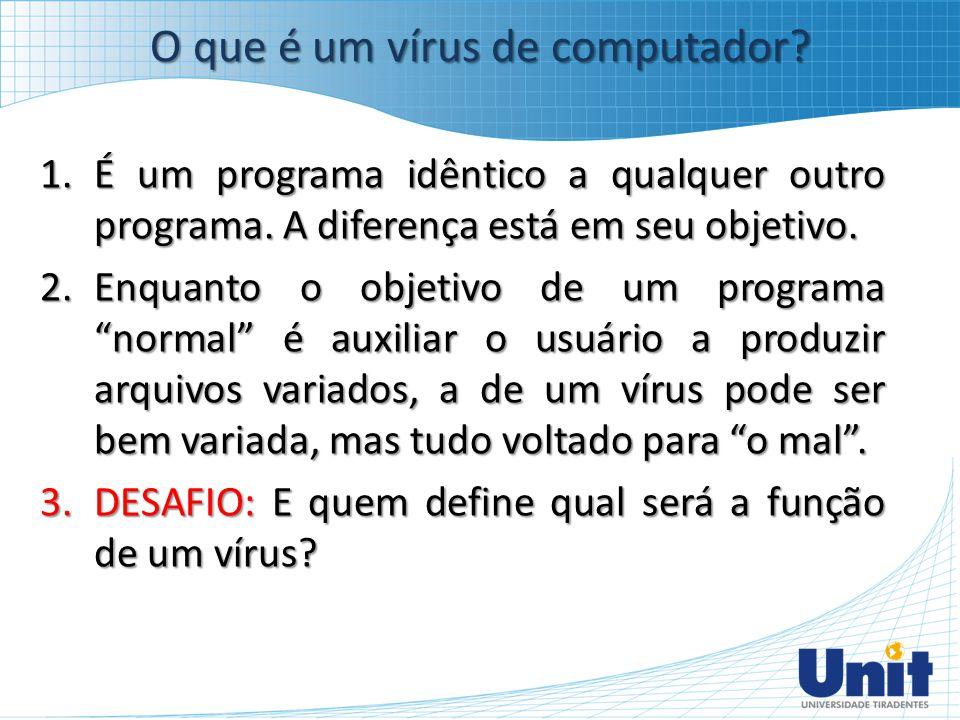 O que é um vírus de computador