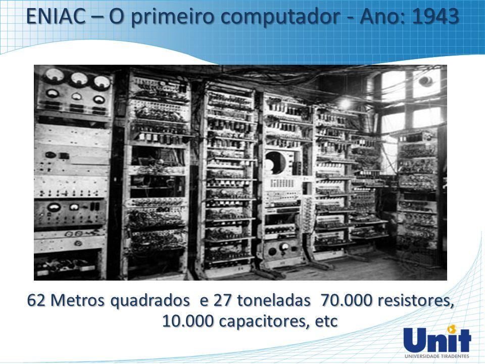 ENIAC – O primeiro computador - Ano: 1943