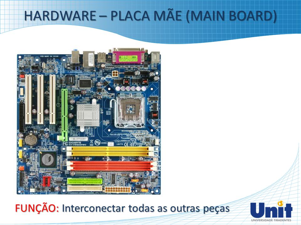 HARDWARE – PLACA MÃE (MAIN BOARD)