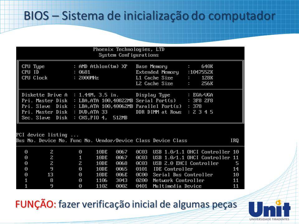 BIOS – Sistema de inicialização do computador