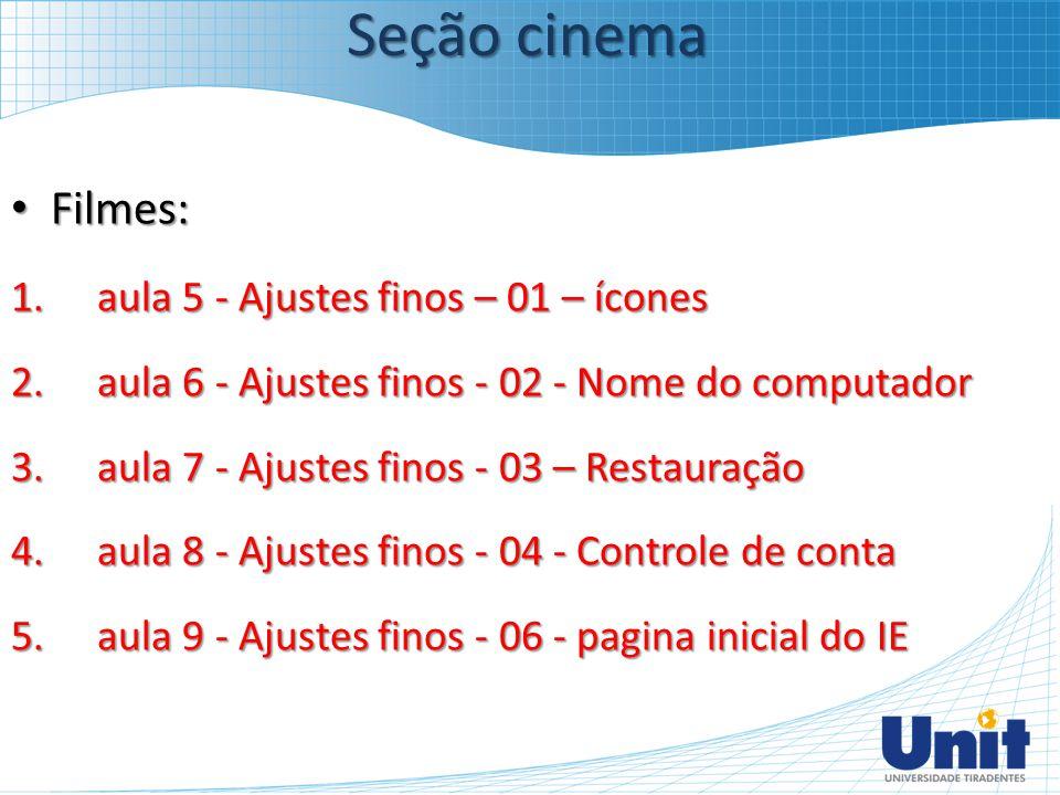 Seção cinema Filmes: aula 5 - Ajustes finos – 01 – ícones