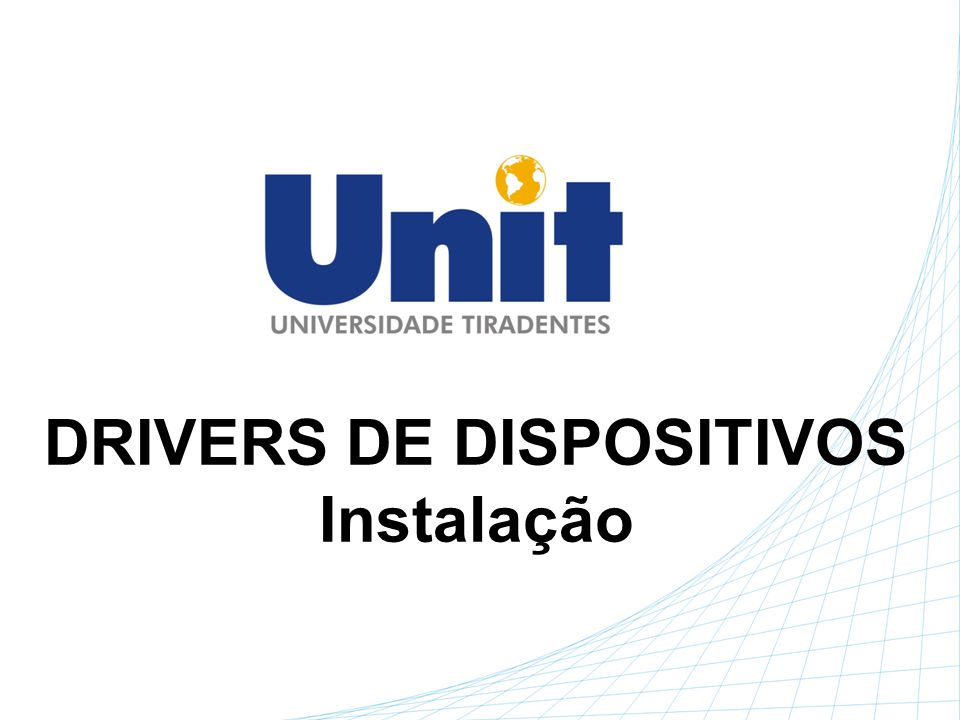 DRIVERS DE DISPOSITIVOS