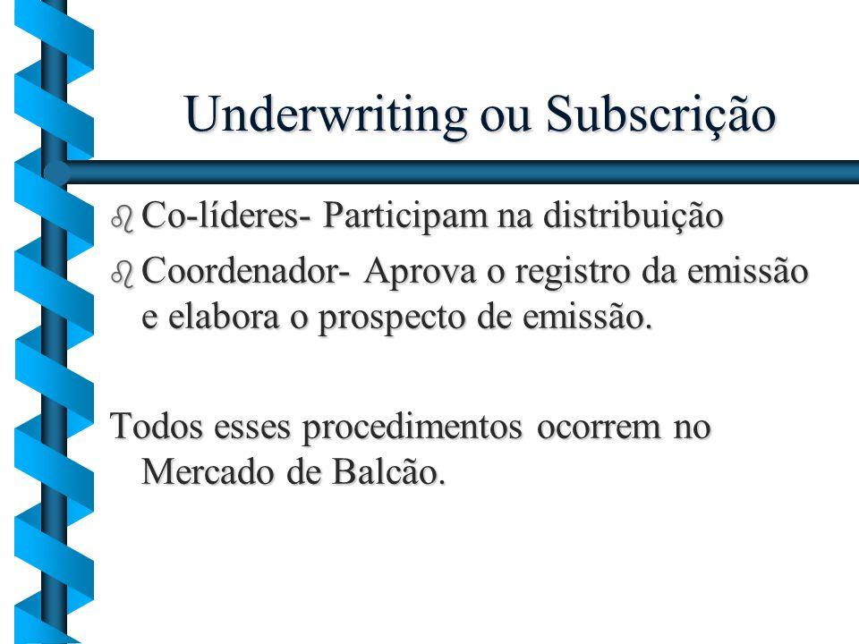 Underwriting ou Subscrição