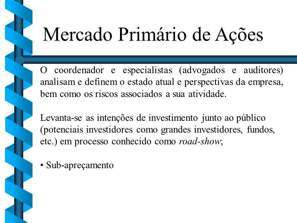 Mercado Primário de Ações