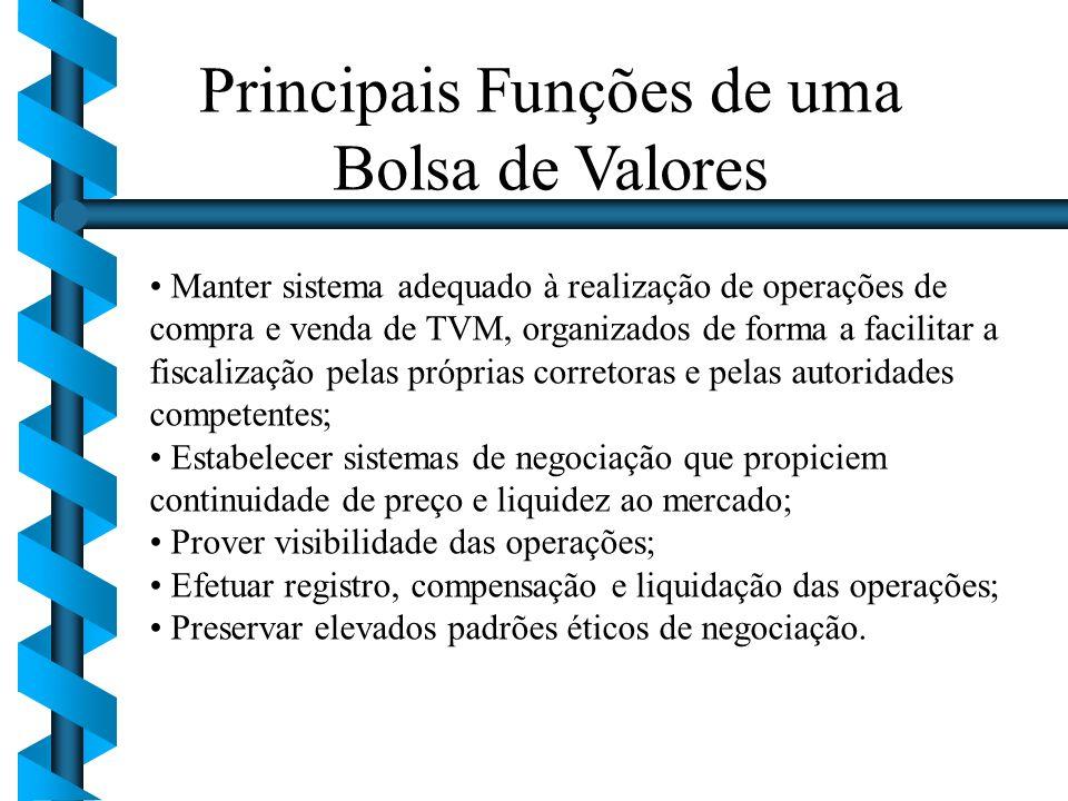 Principais Funções de uma Bolsa de Valores