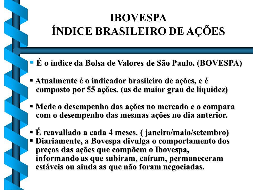 ÍNDICE BRASILEIRO DE AÇÕES