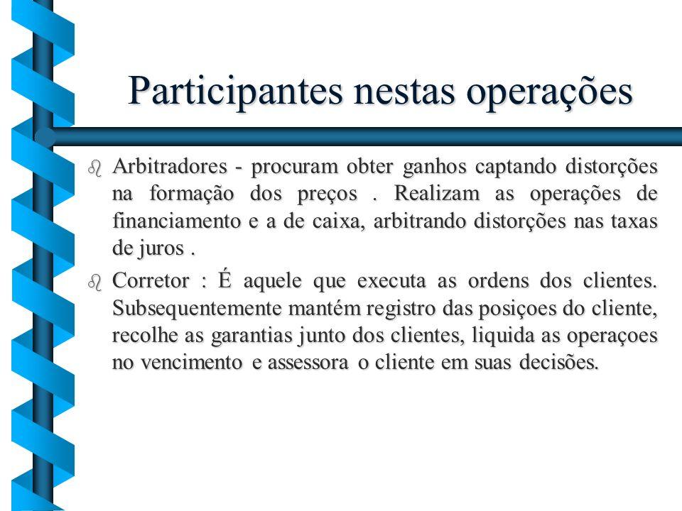 Participantes nestas operações