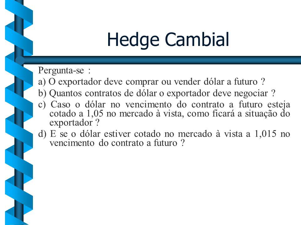 Hedge Cambial Pergunta-se :
