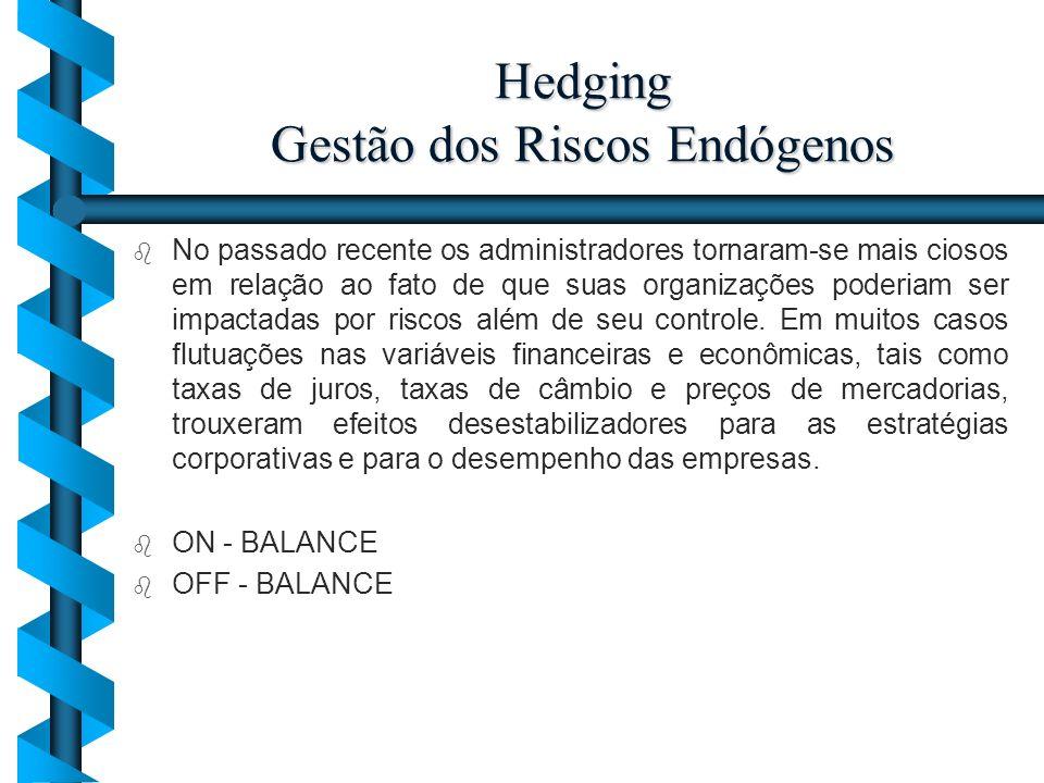 Hedging Gestão dos Riscos Endógenos