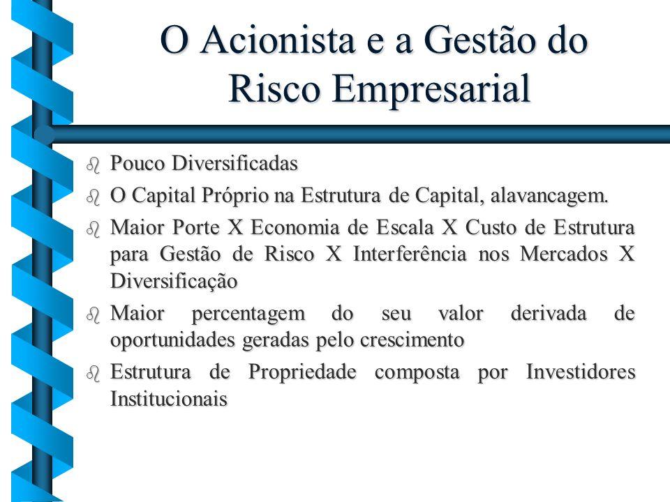 O Acionista e a Gestão do Risco Empresarial