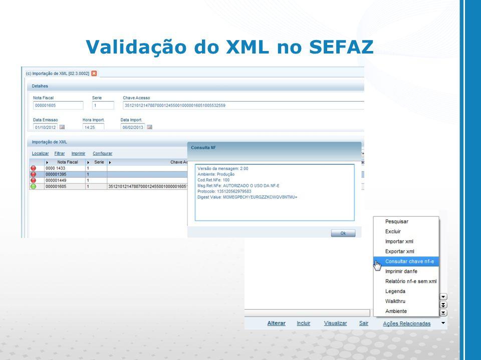 Validação do XML no SEFAZ