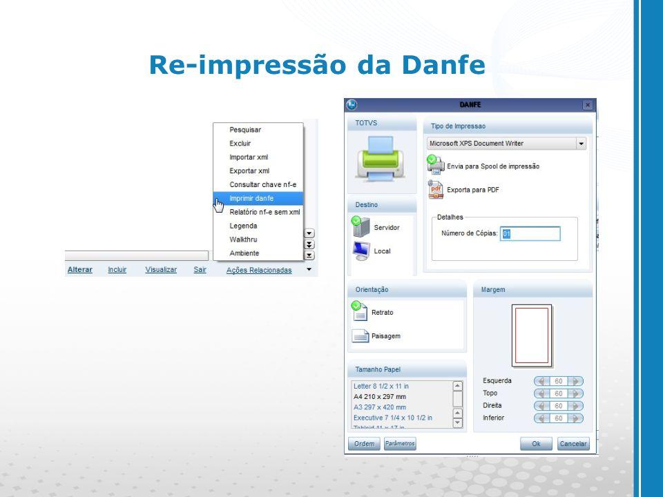 Re-impressão da Danfe