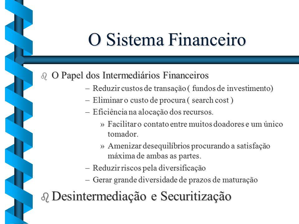 O Sistema Financeiro Desintermediação e Securitização