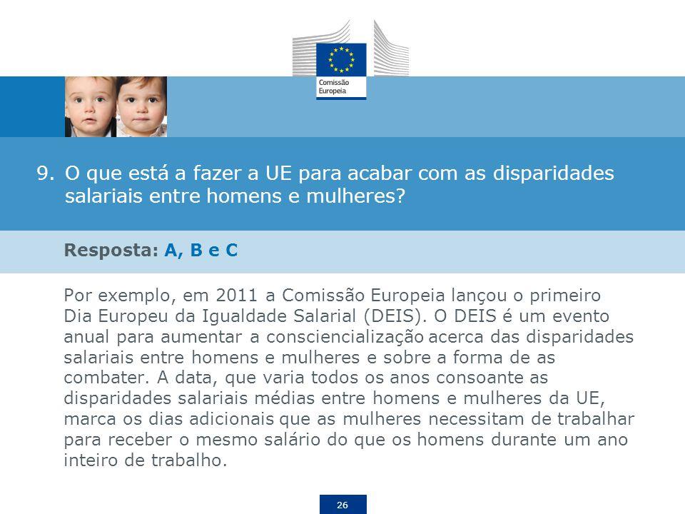 O que está a fazer a UE para acabar com as disparidades salariais entre homens e mulheres