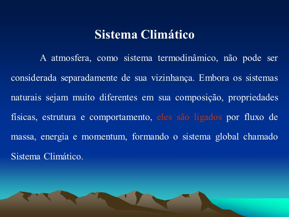 Sistema Climático