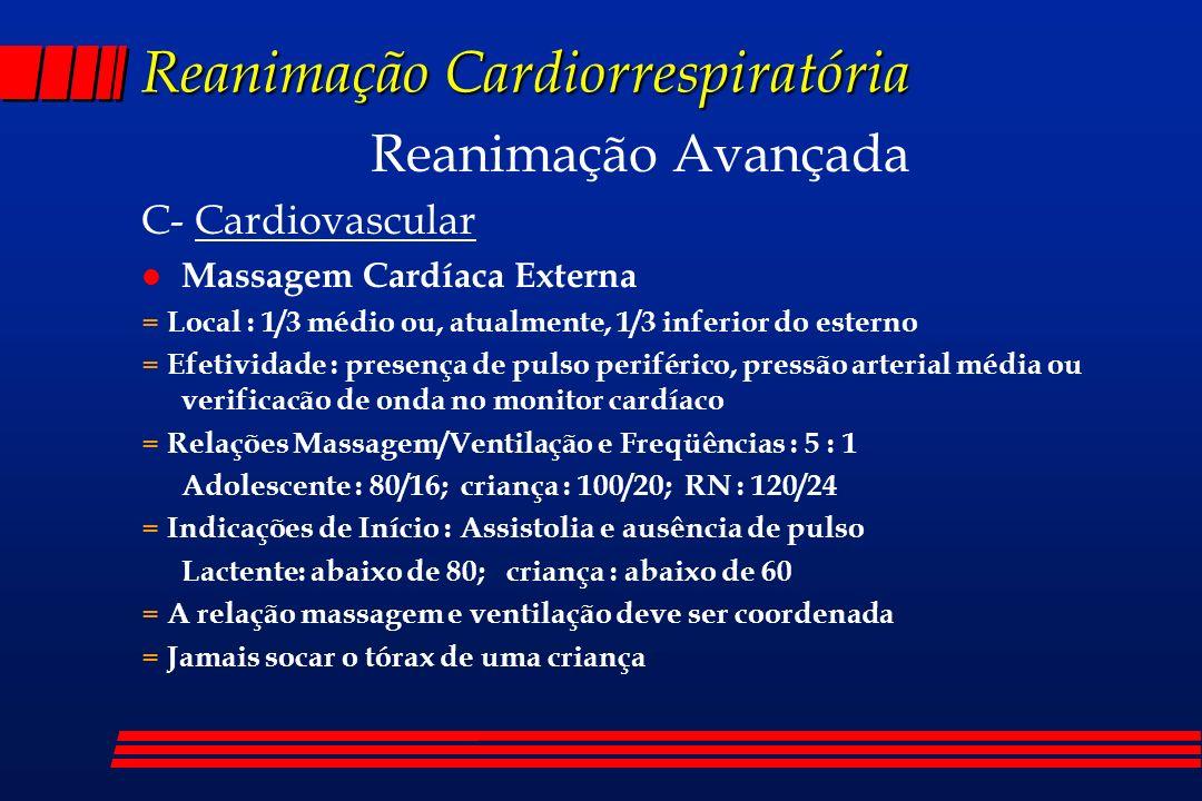 Reanimação Cardiorrespiratória