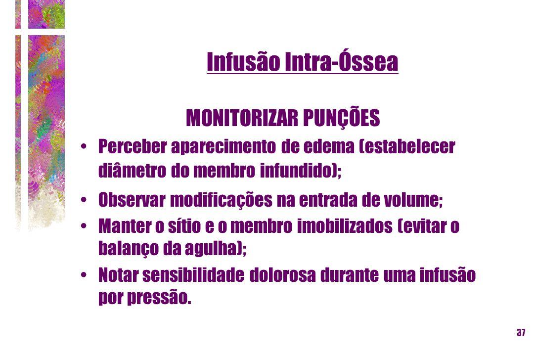 Infusão Intra-Óssea MONITORIZAR PUNÇÕES