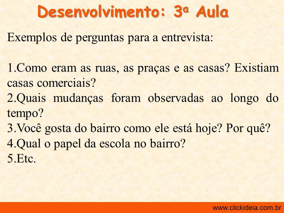 Desenvolvimento: 3a Aula