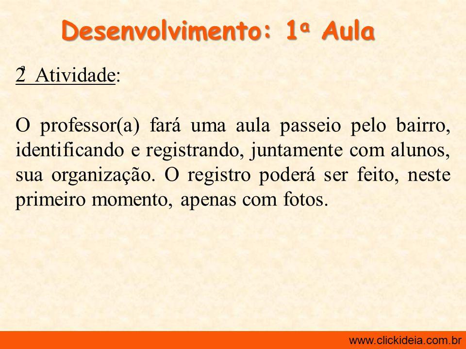 Desenvolvimento: 1a Aula
