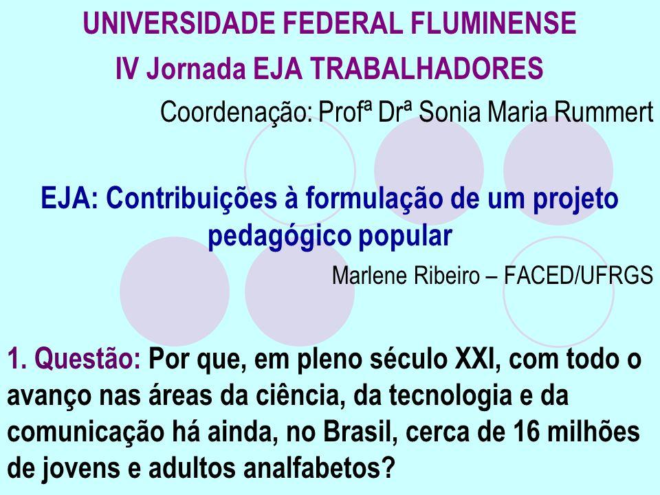 UNIVERSIDADE FEDERAL FLUMINENSE IV Jornada EJA TRABALHADORES