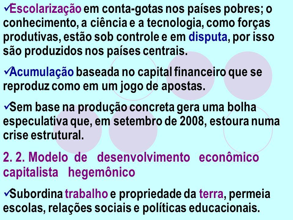 2. 2. Modelo de desenvolvimento econômico capitalista hegemônico