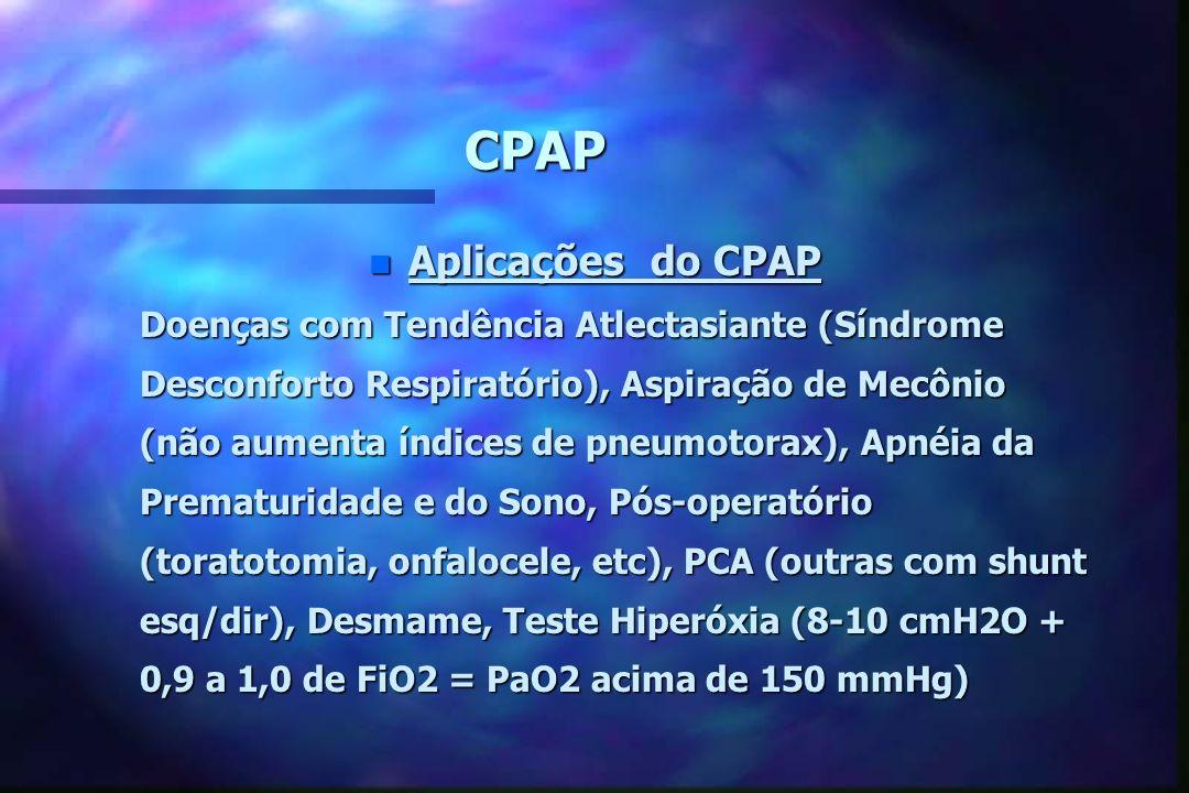 CPAP Aplicações do CPAP