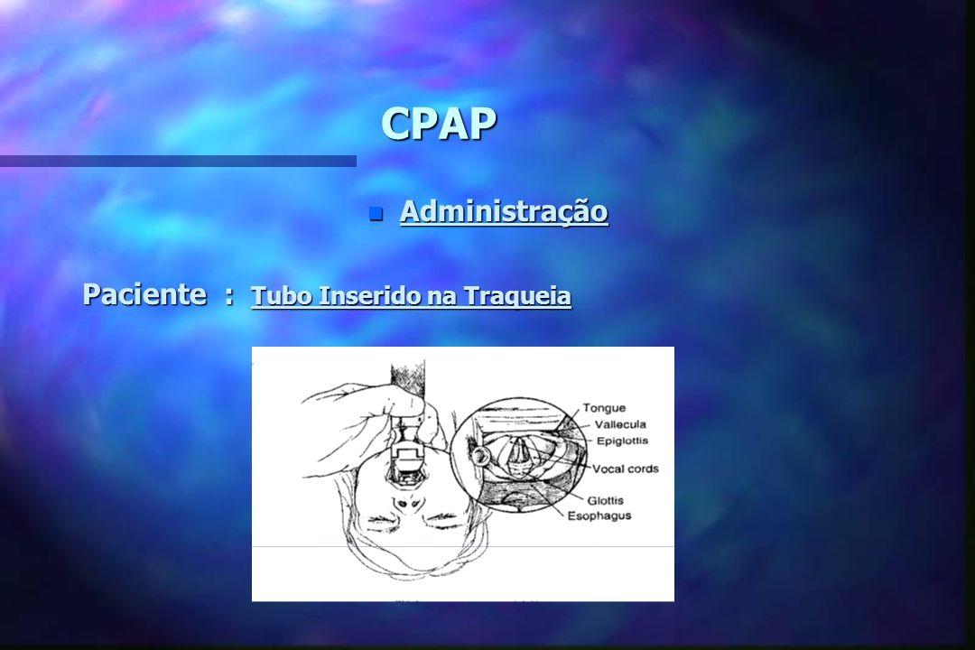 CPAP Administração Paciente : Tubo Inserido na Traqueia