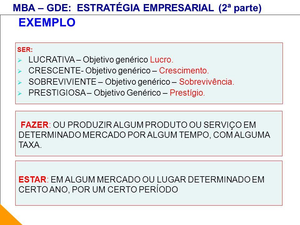 EXEMPLO LUCRATIVA – Objetivo genérico Lucro.
