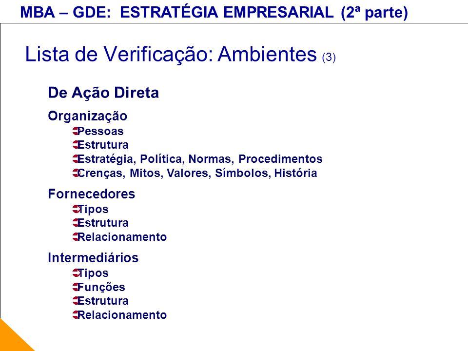 Lista de Verificação: Ambientes (3)
