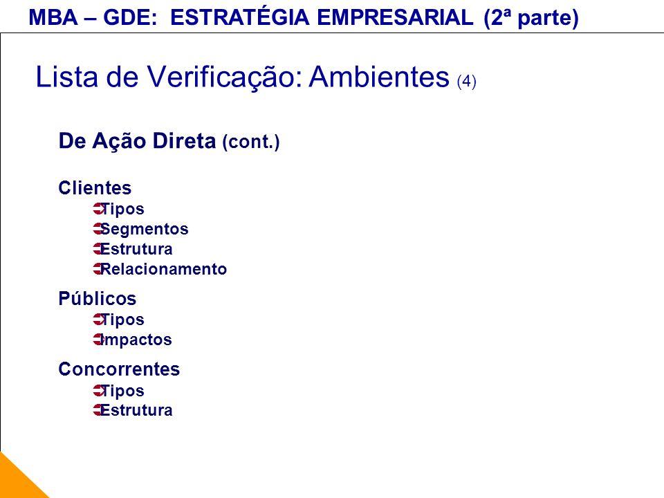Lista de Verificação: Ambientes (4)