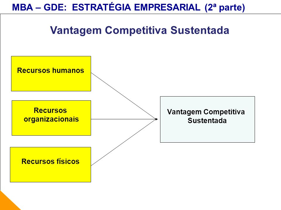 Vantagem Competitiva Sustentada