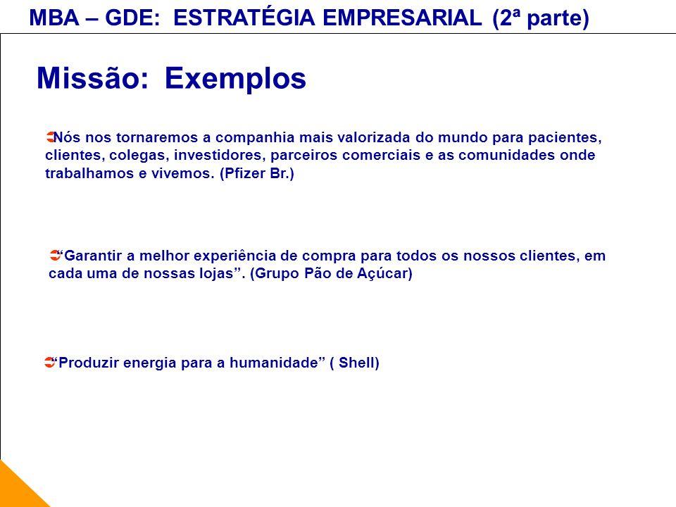 Missão: Exemplos