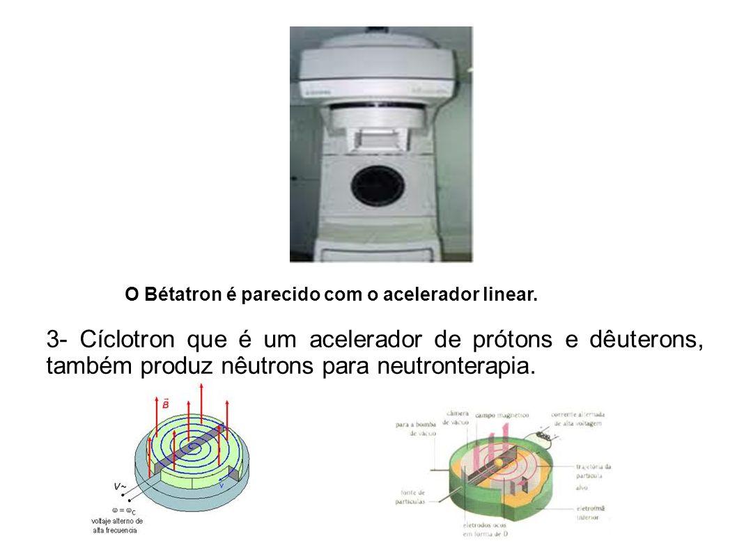 O Bétatron é parecido com o acelerador linear.