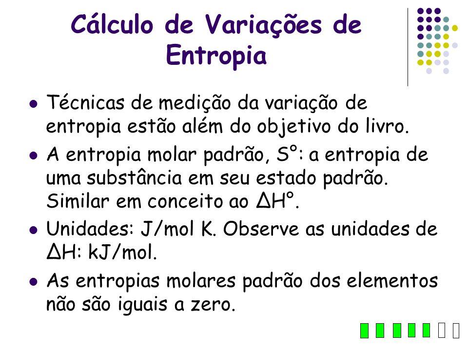 Cálculo de Variações de Entropia