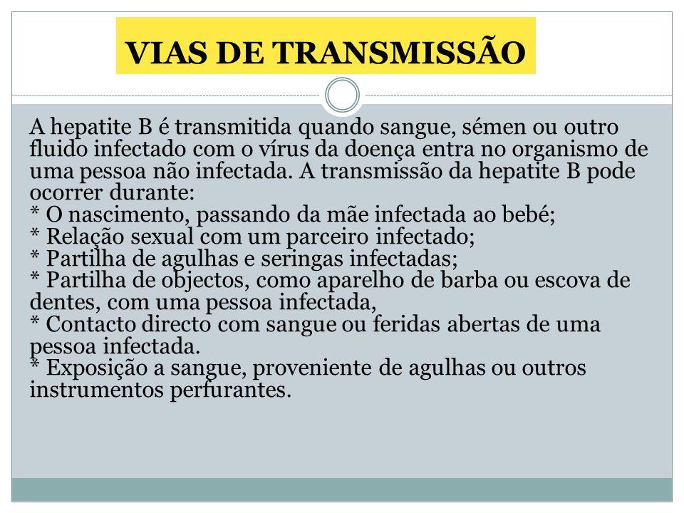 VIAS DE TRANSMISSÃO