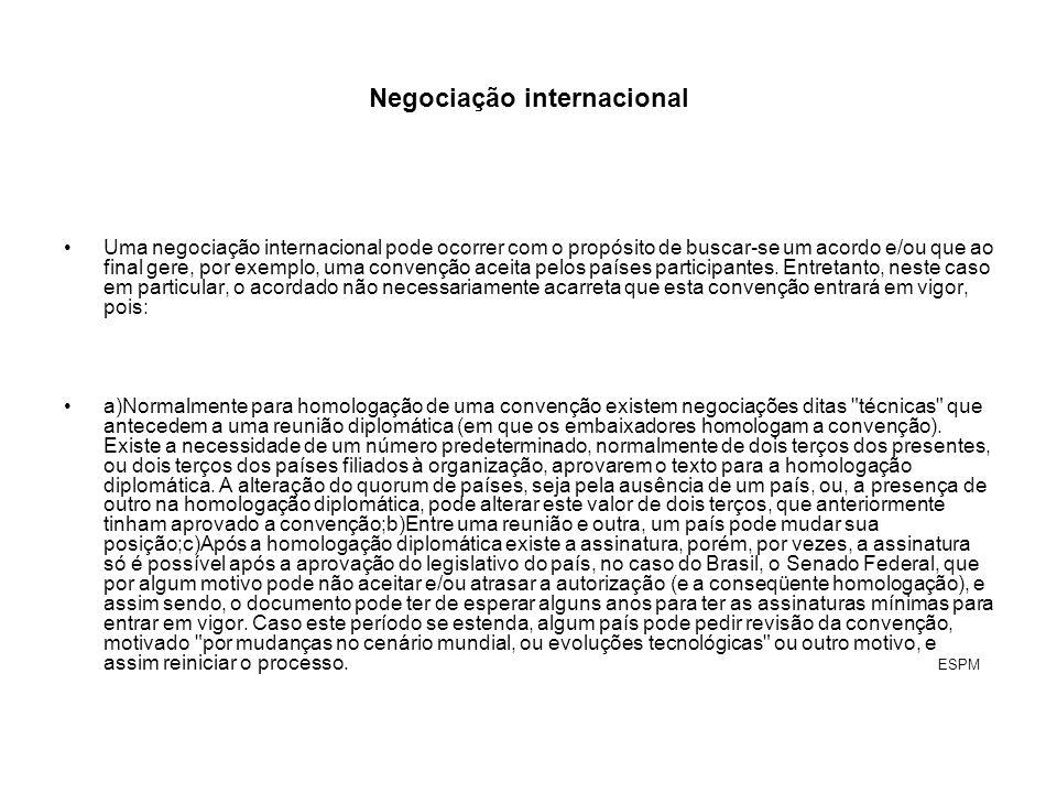 Negociação internacional