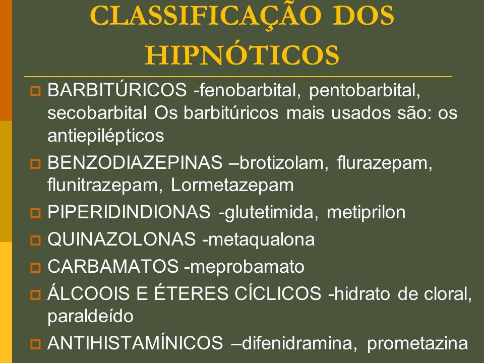 CLASSIFICAÇÃO DOS HIPNÓTICOS