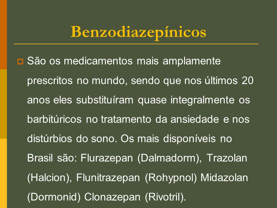 Benzodiazepínicos