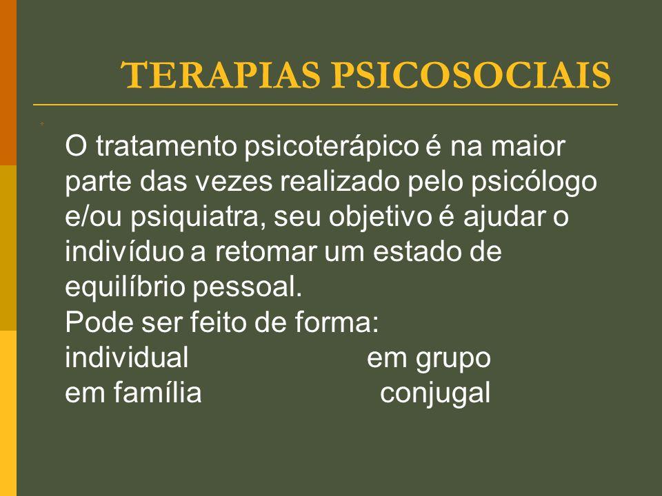 TERAPIAS PSICOSOCIAIS