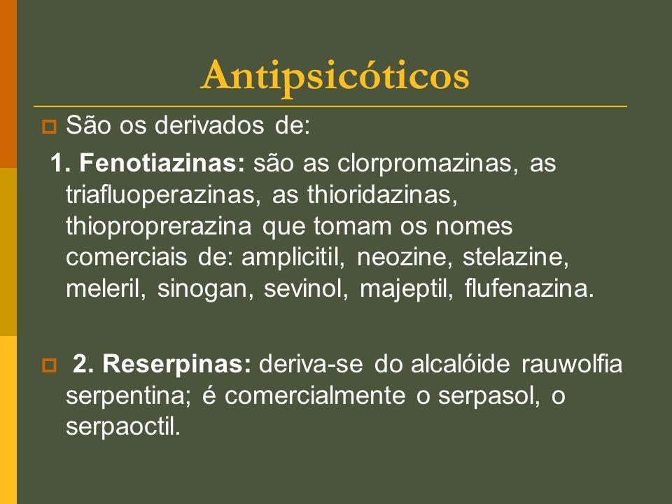 Antipsicóticos São os derivados de: