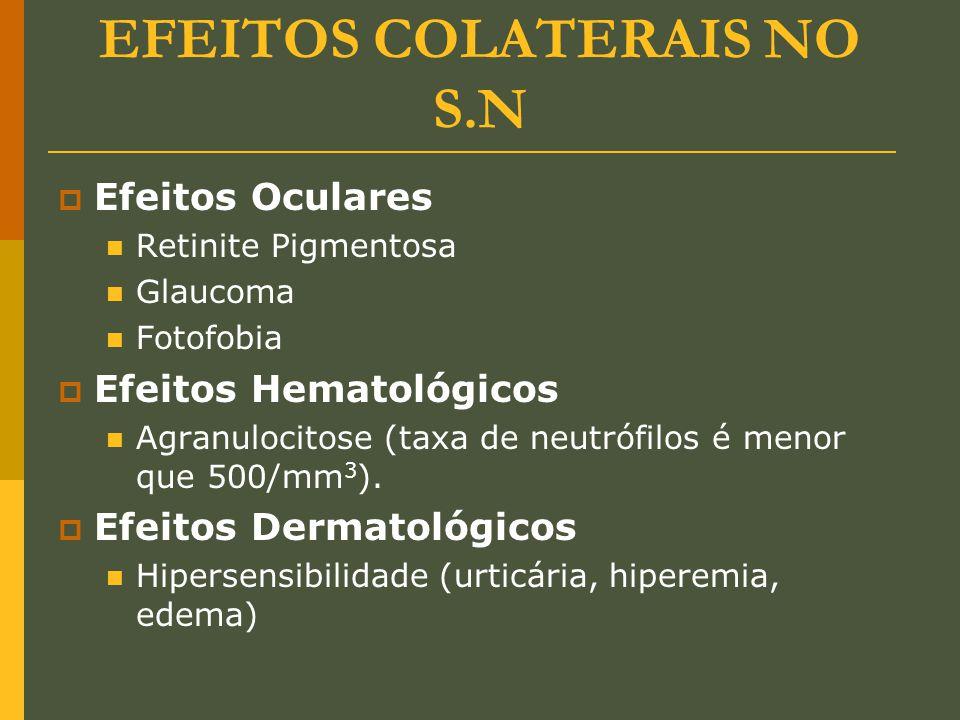 EFEITOS COLATERAIS NO S.N