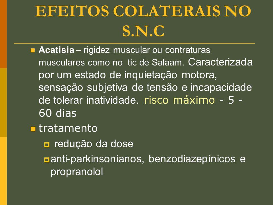 EFEITOS COLATERAIS NO S.N.C